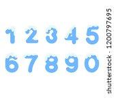 vector set of number 0 9 icy ... | Shutterstock .eps vector #1200797695