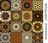 art colorful vintage seamless... | Shutterstock . vector #1200799168