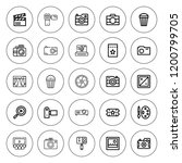 film icon set. collection of 25 ... | Shutterstock .eps vector #1200799705