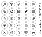 button icon set. collection of... | Shutterstock .eps vector #1200799795