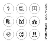 recreational icon set.... | Shutterstock .eps vector #1200799828