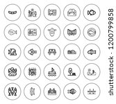 river icon set. collection of... | Shutterstock .eps vector #1200799858