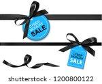 decorative horizontal black... | Shutterstock .eps vector #1200800122