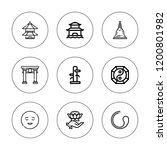 buddhism icon set. collection... | Shutterstock .eps vector #1200801982