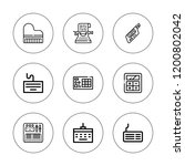 keyboard icon set. collection... | Shutterstock .eps vector #1200802042