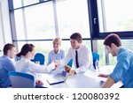 group of happy young  business... | Shutterstock . vector #120080392