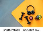 exercise workout equipment at... | Shutterstock . vector #1200805462