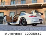 Постер, плакат: Parked customized Porsche Porsche