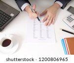 bisinessman working his job at... | Shutterstock . vector #1200806965