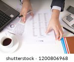 bisinessman working his job at... | Shutterstock . vector #1200806968