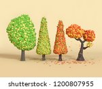 low poly cartoon tree fall... | Shutterstock . vector #1200807955