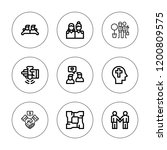 trust icon set. collection of 9 ... | Shutterstock .eps vector #1200809575