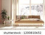 white room with sofa and winter ... | Shutterstock . vector #1200810652