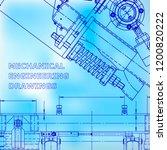 blueprint  scheme  plan  blue... | Shutterstock .eps vector #1200820222