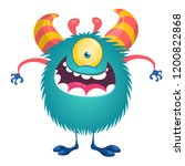 one eye alien cartoon character ... | Shutterstock .eps vector #1200822868