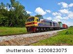 Freight Trains On Railway...