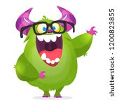 funny monster wearing... | Shutterstock .eps vector #1200823855
