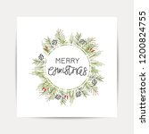 vector hand drawn christmas... | Shutterstock .eps vector #1200824755