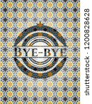 bye bye arabesque style emblem. ... | Shutterstock .eps vector #1200828628