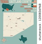 detailed map of eastland county ... | Shutterstock .eps vector #1200836968