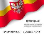 waving flag of lesser poland...   Shutterstock .eps vector #1200837145