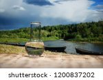 clean water in a glass... | Shutterstock . vector #1200837202