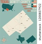detailed map of dewitt county... | Shutterstock .eps vector #1200837922