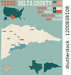 detailed map of delta county in ... | Shutterstock .eps vector #1200838108
