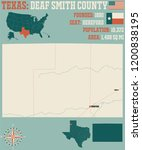 detailed map of deaf smith... | Shutterstock .eps vector #1200838195
