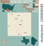 detailed map of dawson county... | Shutterstock .eps vector #1200838285