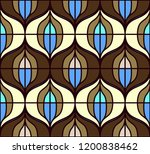 seamless retro pattern in the... | Shutterstock .eps vector #1200838462
