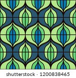seamless retro pattern in the... | Shutterstock .eps vector #1200838465