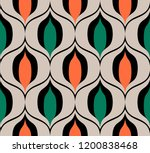 seamless retro pattern in the... | Shutterstock .eps vector #1200838468