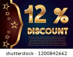 12  off discount promotion sale ... | Shutterstock .eps vector #1200842662