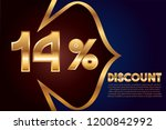 14  off discount promotion sale ... | Shutterstock .eps vector #1200842992