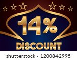 14  off discount promotion sale ... | Shutterstock .eps vector #1200842995