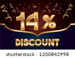 14  off discount promotion sale ... | Shutterstock .eps vector #1200842998
