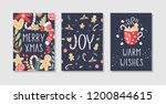 set of christmas and happy new... | Shutterstock .eps vector #1200844615