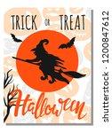 halloween card.invitation card...   Shutterstock .eps vector #1200847612