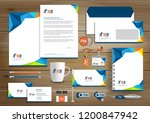 corporate identity business ... | Shutterstock .eps vector #1200847942