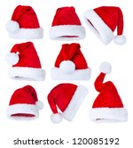 santa hat isolated on white... | Shutterstock . vector #120085192