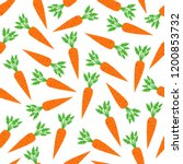 carrot seamless pattern... | Shutterstock .eps vector #1200853732