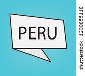 peru word on a sticker  vector...   Shutterstock .eps vector #1200855118