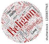 vector conceptual religion  god ... | Shutterstock .eps vector #1200857965
