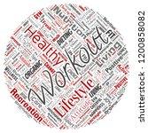 vector conceptual healthy... | Shutterstock .eps vector #1200858082