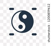 yin yang vector icon isolated... | Shutterstock .eps vector #1200859612