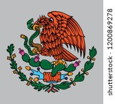 mexico flag the eagle and snake ... | Shutterstock .eps vector #1200869278