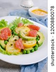 salad of fresh vegetables with... | Shutterstock . vector #1200880078