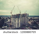 a view to the multistorey... | Shutterstock . vector #1200880705