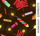 vector seamless pattern of... | Shutterstock .eps vector #1200882172